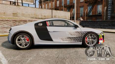 Audi R8 GT Coupe 2011 Drift para GTA 4 esquerda vista