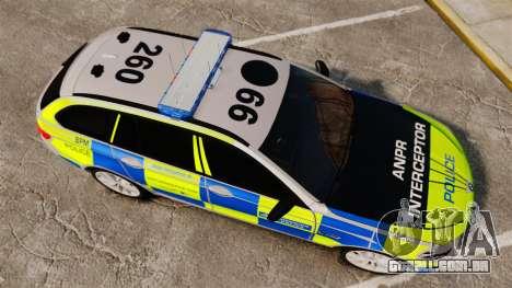 BMW 550d Touring Metropolitan Police [ELS] para GTA 4 vista direita
