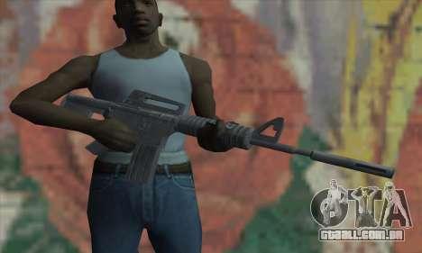 M4A1 de Saints Row 2 para GTA San Andreas terceira tela