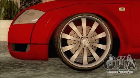 Audi TT 1.8T para GTA San Andreas traseira esquerda vista