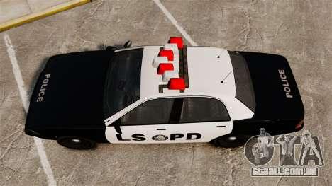 GTA V Vapid Police Cruiser LSPD para GTA 4 vista direita