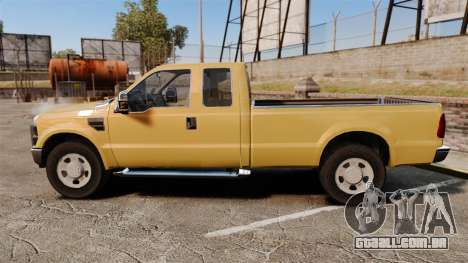 Ford F-350 Super Duty 2011 para GTA 4 esquerda vista