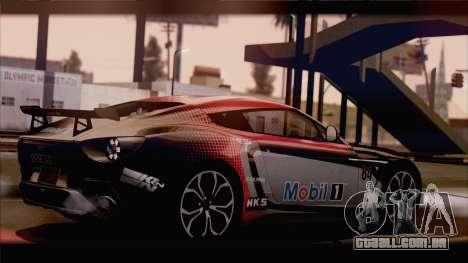 Aston Martin V12 Zagato 2012 [HQLM] para GTA San Andreas traseira esquerda vista
