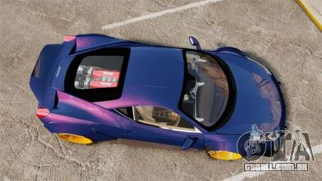 Ferrari 458 Italia Liberty Walk para GTA 4 vista direita
