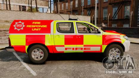 Toyota Hilux British Rapid Fire Cover [ELS] para GTA 4 esquerda vista