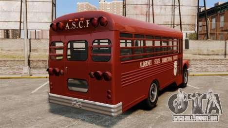 GTA IV TLAD Prison Bus para GTA 4 traseira esquerda vista