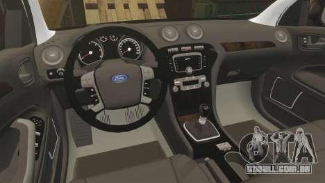 Ford Mondeo Unmarked Police [ELS] para GTA 4 vista interior