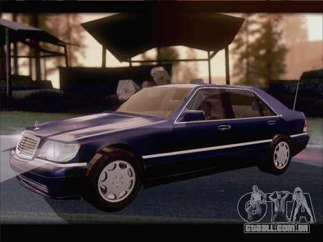 Mercedes-Benz S600 V12 V1.2 para GTA San Andreas vista traseira