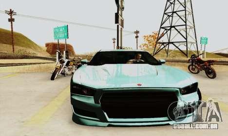 Búfalo de GTA V para GTA San Andreas vista traseira