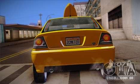 Declasse Premier Taxi para GTA San Andreas vista superior