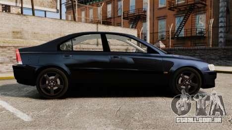 Volvo S60R Unmarked Police [ELS] para GTA 4 esquerda vista