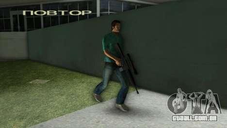 M-16 com uma arma de Sniper para GTA Vice City por diante tela