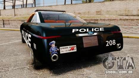 Ford Forty Nine Concept 2001 Police [ELS] para GTA 4 traseira esquerda vista