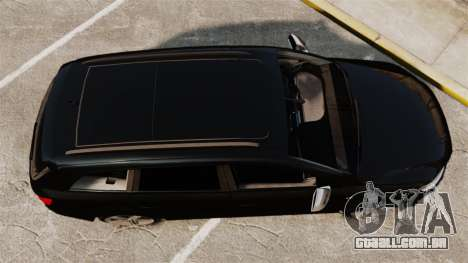 Audi Q7 Unmarked Police [ELS] para GTA 4 vista direita