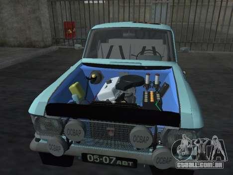 Rally Moskvich 412 para GTA San Andreas traseira esquerda vista