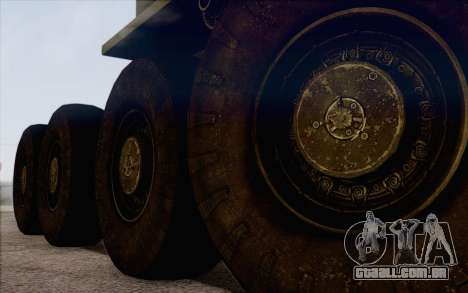 535 MAZ militar para GTA San Andreas traseira esquerda vista