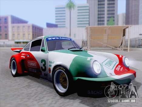 Porsche 911 RSR 3.3 skinpack 1 para GTA San Andreas vista inferior