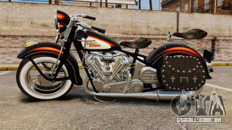 Harley-Davidson Knucklehead 1947 para GTA 4 vista direita