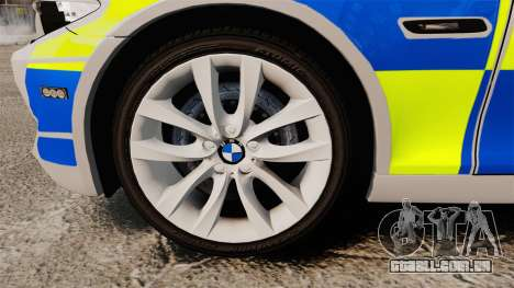 BMW 550d Touring Metropolitan Police [ELS] para GTA 4 vista de volta