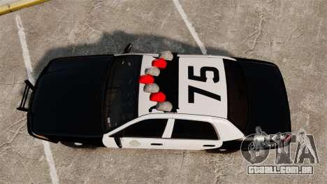 Ford Crown Victoria 1999 LAPD & GTA V LSPD para GTA 4 vista direita