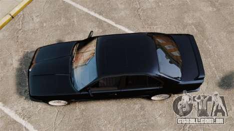 BMW M5 E34 para GTA 4 vista direita