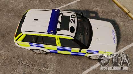 Range Rover Sport Metropolitan Police [ELS] para GTA 4 vista direita