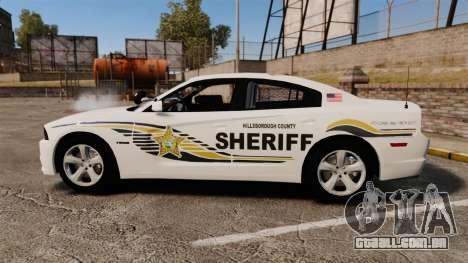 Dodge Charger RT 2012 Slicktop Police [ELS] para GTA 4 esquerda vista
