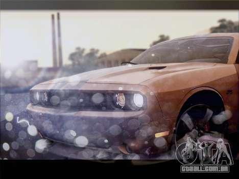 Dodge Challenger SRT8 2012 HEMI para GTA San Andreas vista interior