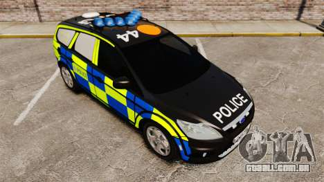 Ford Focus Estate 2009 Police England [ELS] para GTA 4 vista de volta