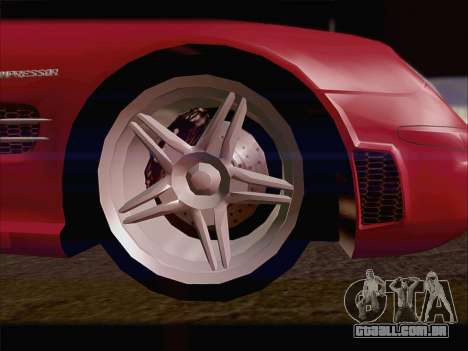 Mercedes SL500 v2 para GTA San Andreas vista direita