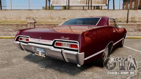 Chevrolet Impala 1967 para GTA 4 traseira esquerda vista