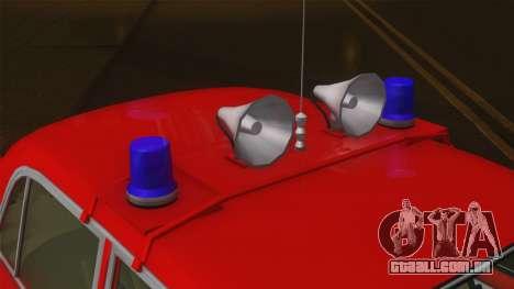 VAZ 21011 protecção contra incêndios para GTA San Andreas vista traseira