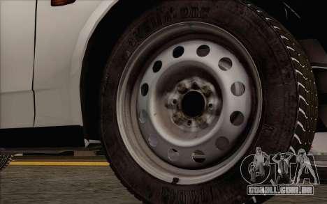 VAZ 2108 táxi para GTA San Andreas traseira esquerda vista