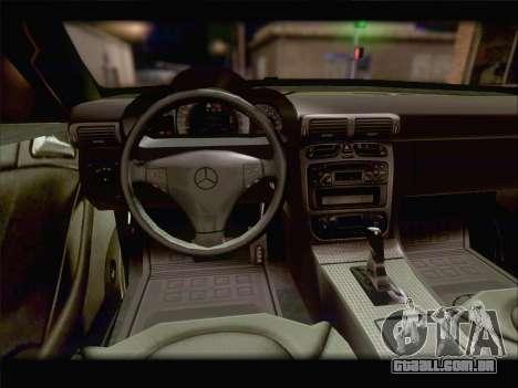 Mercedes SL500 v2 para GTA San Andreas vista superior