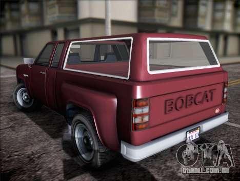 Bobcat insípida XL de GTA V para GTA San Andreas esquerda vista