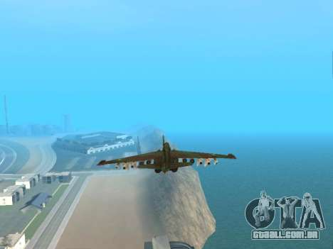 Su-25 para vista lateral GTA San Andreas