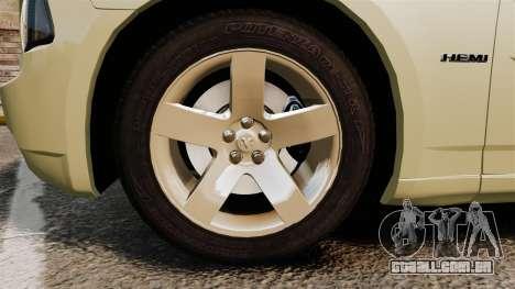Dodge Charger RT Hemi 2007 para GTA 4 vista de volta