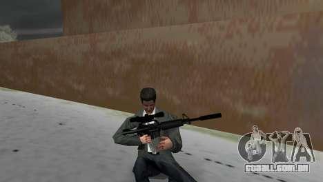 M4 com a arma de Sniper para GTA Vice City terceira tela