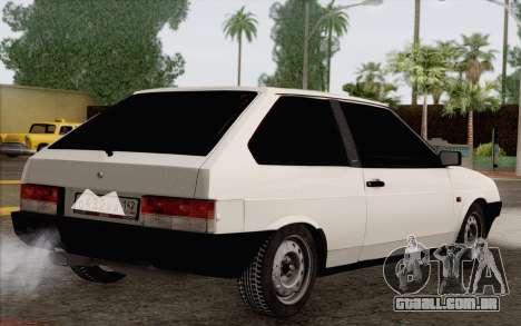 VAZ 2108 táxi para GTA San Andreas esquerda vista