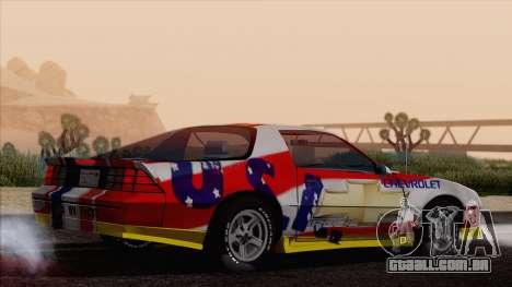 Chevrolet Camaro IROC-Z 1989 FIXED para o motor de GTA San Andreas
