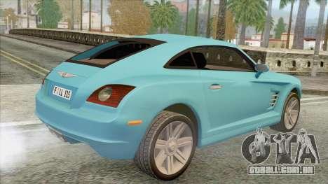 Chrysler Crossfire para GTA San Andreas esquerda vista