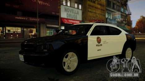 Dodge Charger LAPD 2008 para GTA 4 vista direita