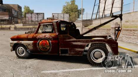 Chevrolet Tow truck rusty Rat rod para GTA 4 esquerda vista