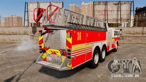 MTL Firetruck MDH1000 LCFR [ELS] para GTA 4 esquerda vista
