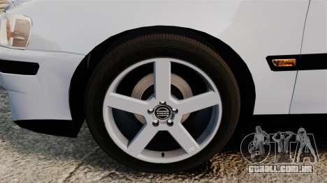 Volvo S60R Unmarked Police [ELS] para GTA 4 vista de volta