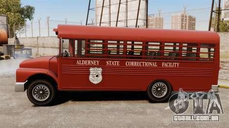 GTA IV TLAD Prison Bus para GTA 4 esquerda vista
