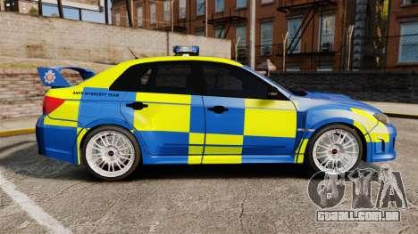 Subaru Impreza WRX STI 2011 Police [ELS] para GTA 4 esquerda vista