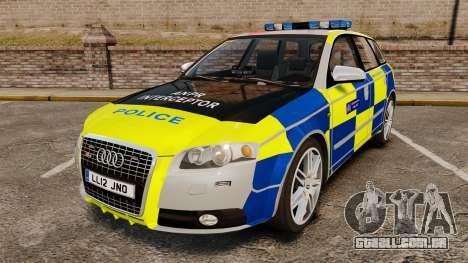Audi S4 Avant Metropolitan Police [ELS] para GTA 4