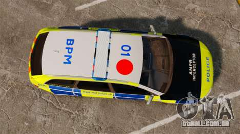 Audi RS6 Avant Metropolitan Police [ELS] para GTA 4 vista direita