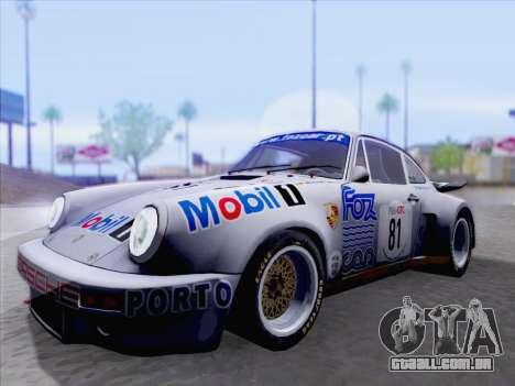 Porsche 911 RSR 3.3 skinpack 1 para GTA San Andreas esquerda vista